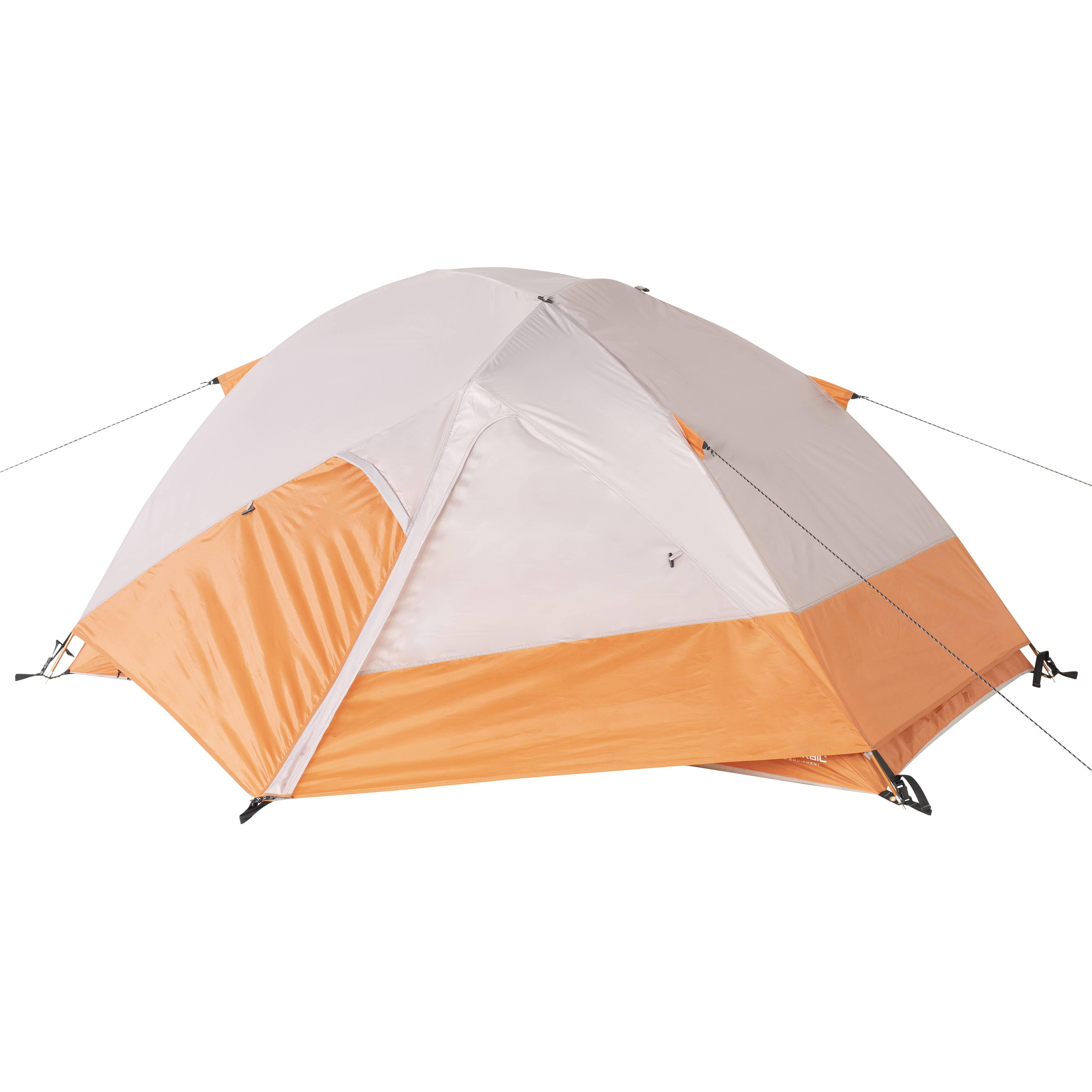 Ozark Trail 2-Person 4-Season Tent with 2 Vestibules and Full Rain Fly Orange