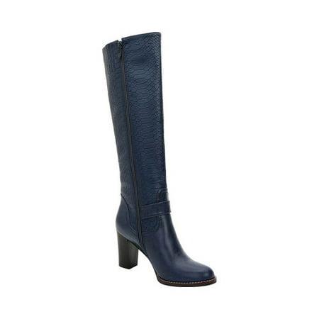 Women's Ann Creek Kaunay Buckle Strap Croc Knee High Boot (Crocs Boot For Snow)