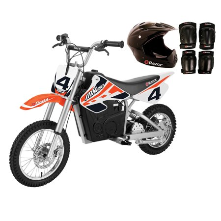 Razor MX650 Electric Dirt Rocket Kids Moto Bike, Orange + Helmet and