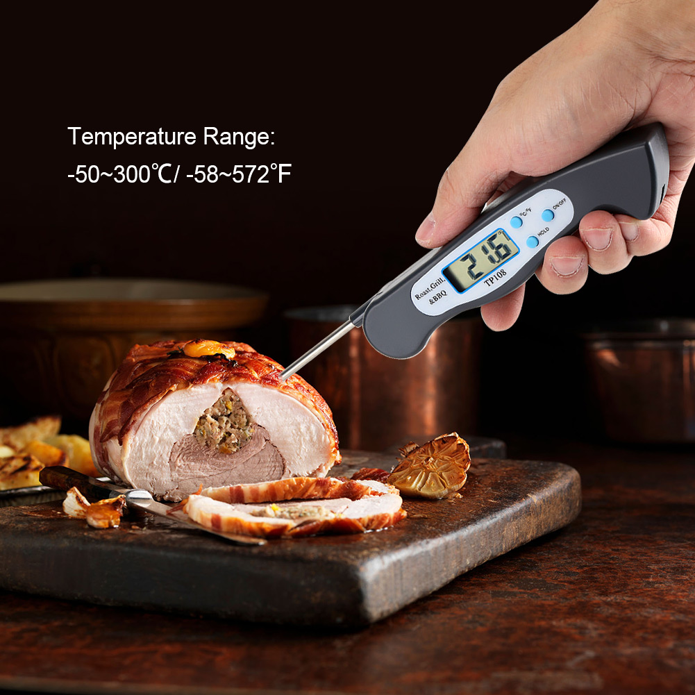 Yosoo Digital Food Thermometer,1Pc LCD Digital Cooking Food Probe Thermometer for Kitchen BBQ Meat Temperature Measurement,BBQ Thermometer