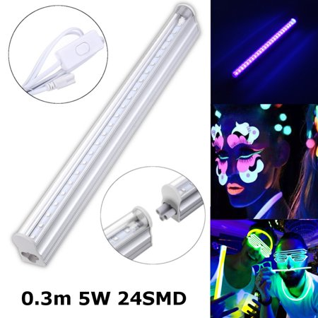 UV Light Bar LED Strip Lights 1FT Party Club Blacklight Halloween Home Decor DJ Equipment Christmas Party Home Decor 110V/220V Black](Club X Halloween)