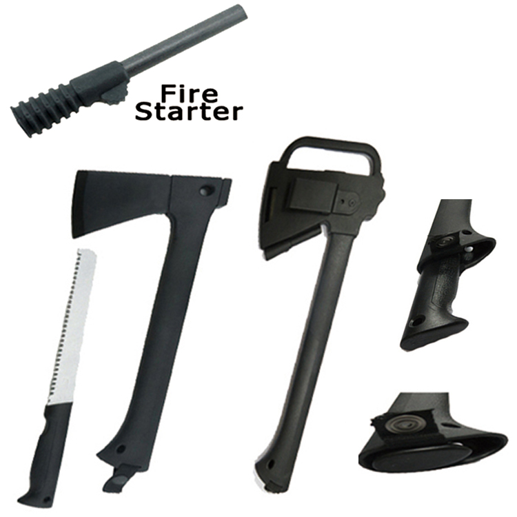 "Defender Camping Hunting Tactical Survival 17"" Steel Axe W  Saw Fire Starter by Defender"