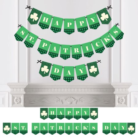 Saints Party (St. Patrick's Day - Saint Patty's Day Party Bunting Banner - Green Party Decorations - Happy St. Patrick's)