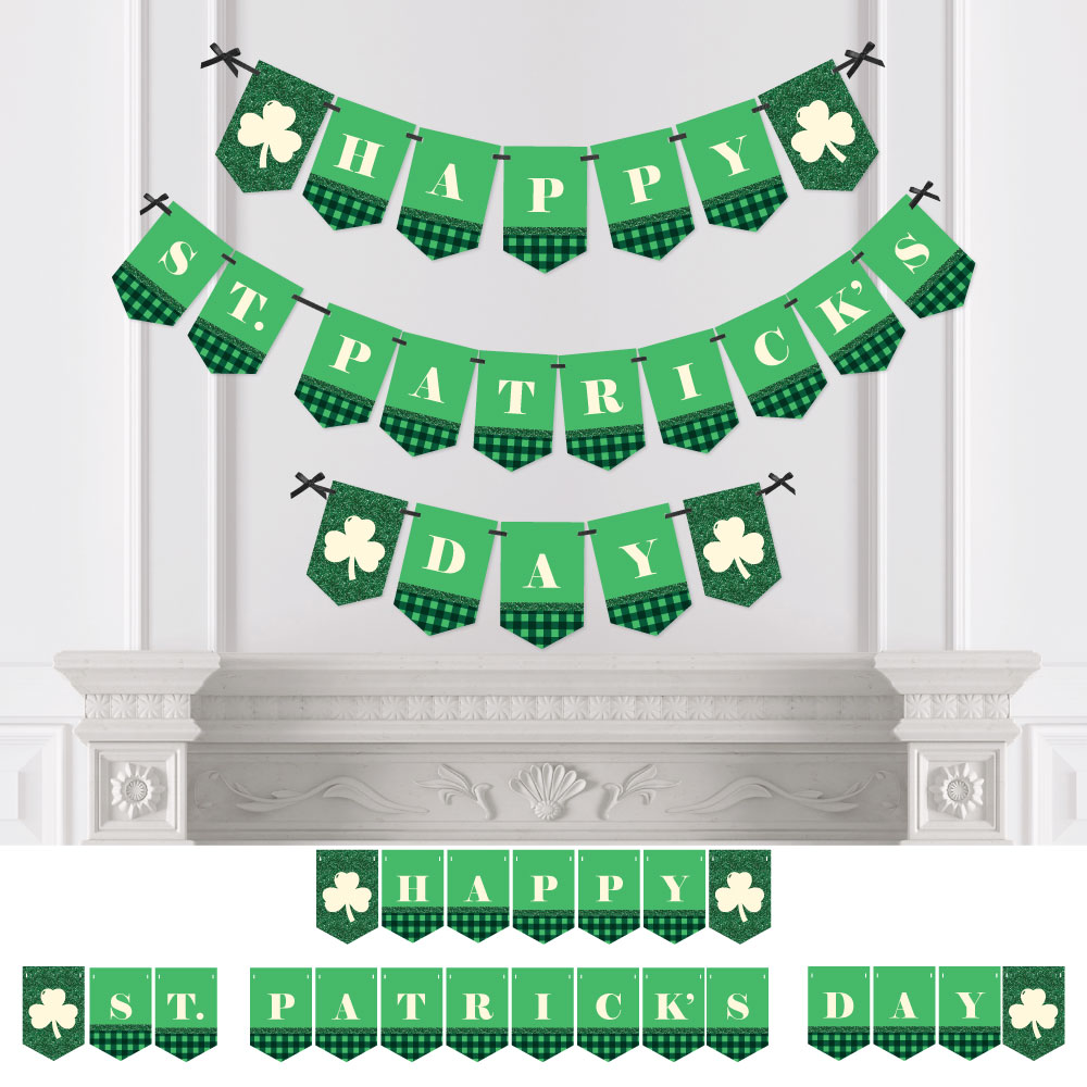 St. Patrick's Day - Saint Patty's Day Party Bunting Banner - Green Party Decorations - Happy St. Patrick's Day