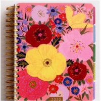 Dayspring Cards 146974 7 x 9 in. 18 Month Whimsey Floral Agenda Planner - 2019 & 2020