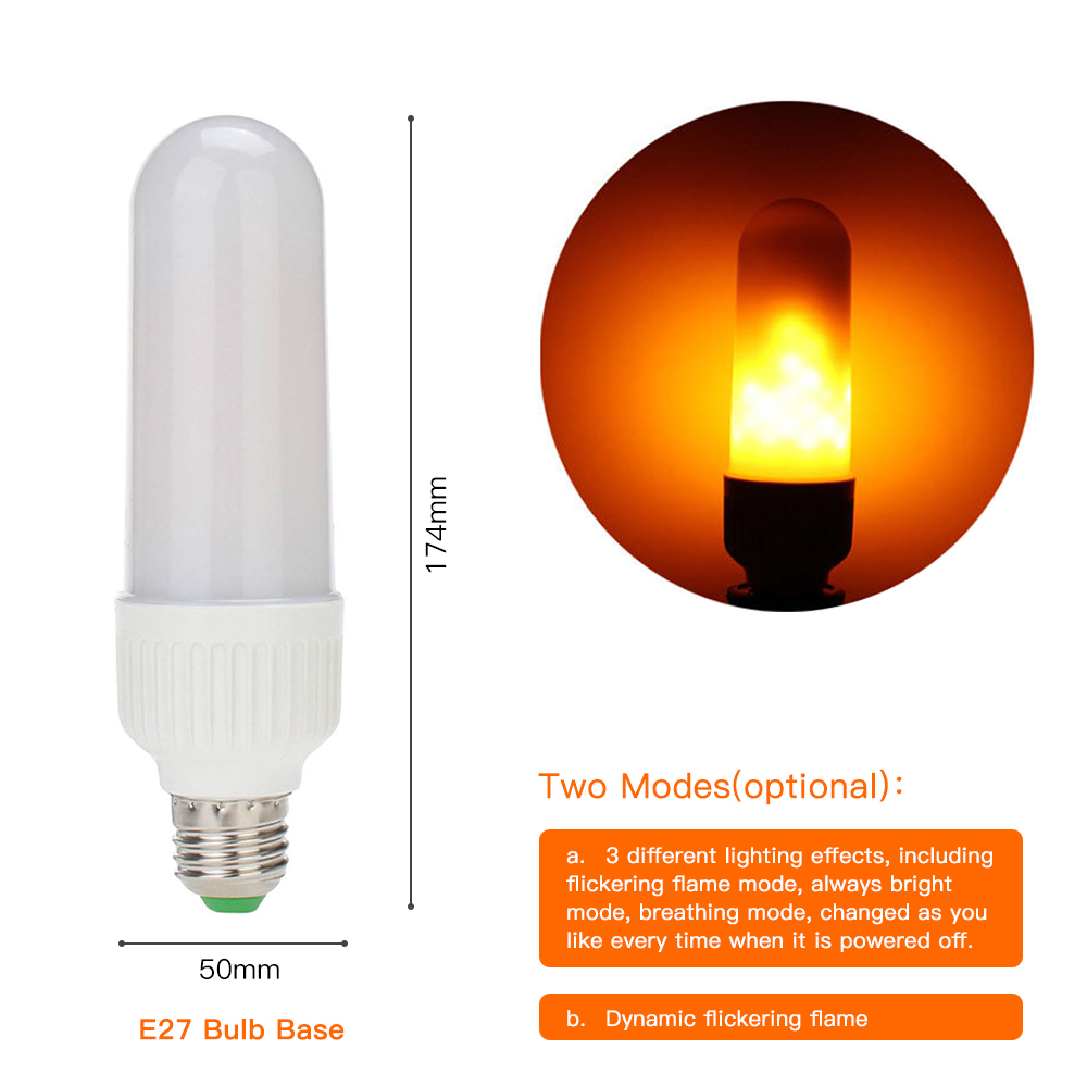 Flicker Flame Bulbs package of two