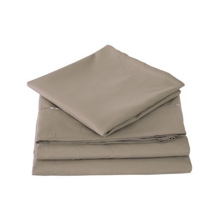 Solid Microfiber 1200TC Bed Sheet Set Deep Pocket For King Bed -4 Piece,Olive
