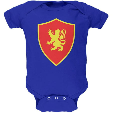 Halloween Knight Shield Costume Rampant Lion Soft Baby One Piece - Lion King Halloween Costumes For Babies