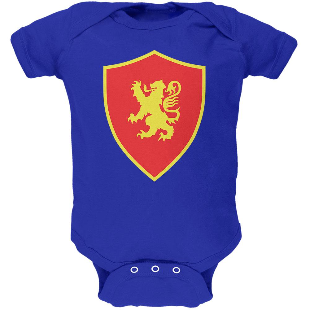 Halloween Knight Shield Costume Rampant Lion Soft Baby One Piece