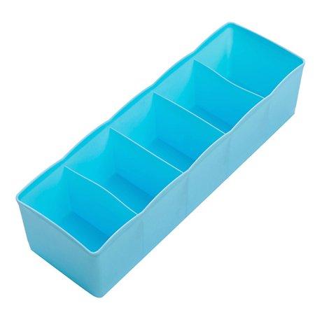 Plastic Storage Dividers - 5 Cells Plastic Storage Box Tie Bra Socks Underwear Drawer Cosmetic Stationery Divider Tidy Organizer