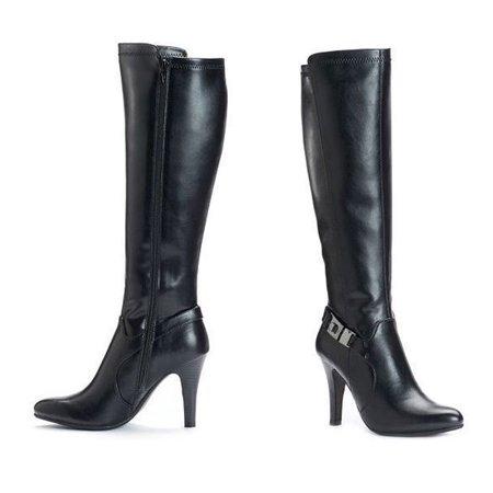 d7bab69c0ed Dana Buchman Luxury - Dana Buchman Women Freida High Knee High Heel Boots -  Walmart.com
