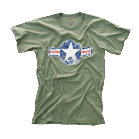 Olive Drab Vintage Army Air Corp Distressed T-shirt](Army Ranger Shirt)