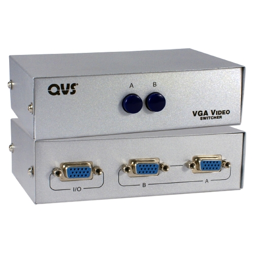 QVS 2-Port HD15 VGA/SXGA Manual Switch