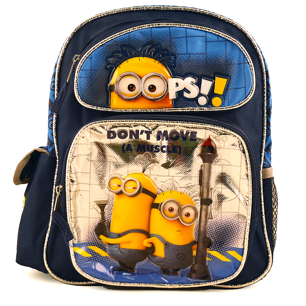 """Licensed Despicable Me 2 Minion School Small 12/"""" inches Backpack Don/'t Move"""