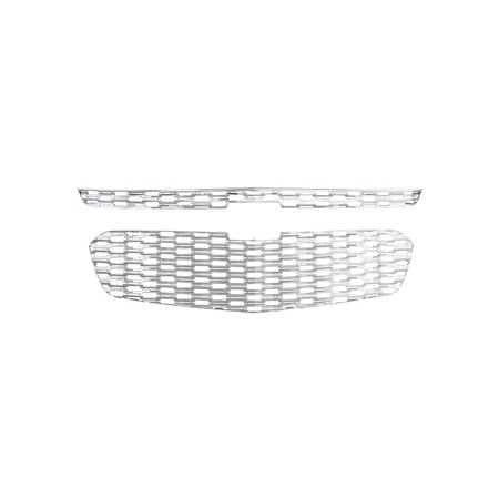Fits 14-15 Chevy Malibu, All Models-Chrome Grille Overlay