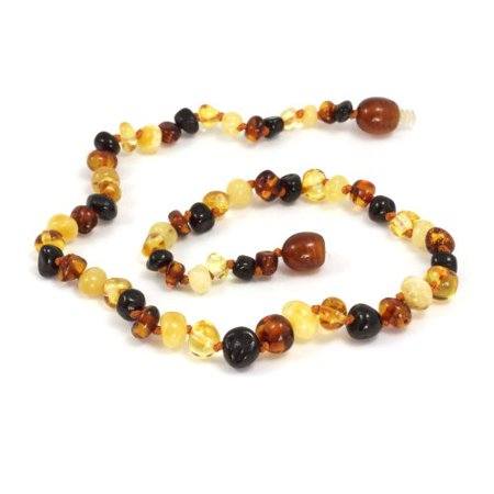 Baltic Amber Baby Teething Necklace - Momma Goose Multi