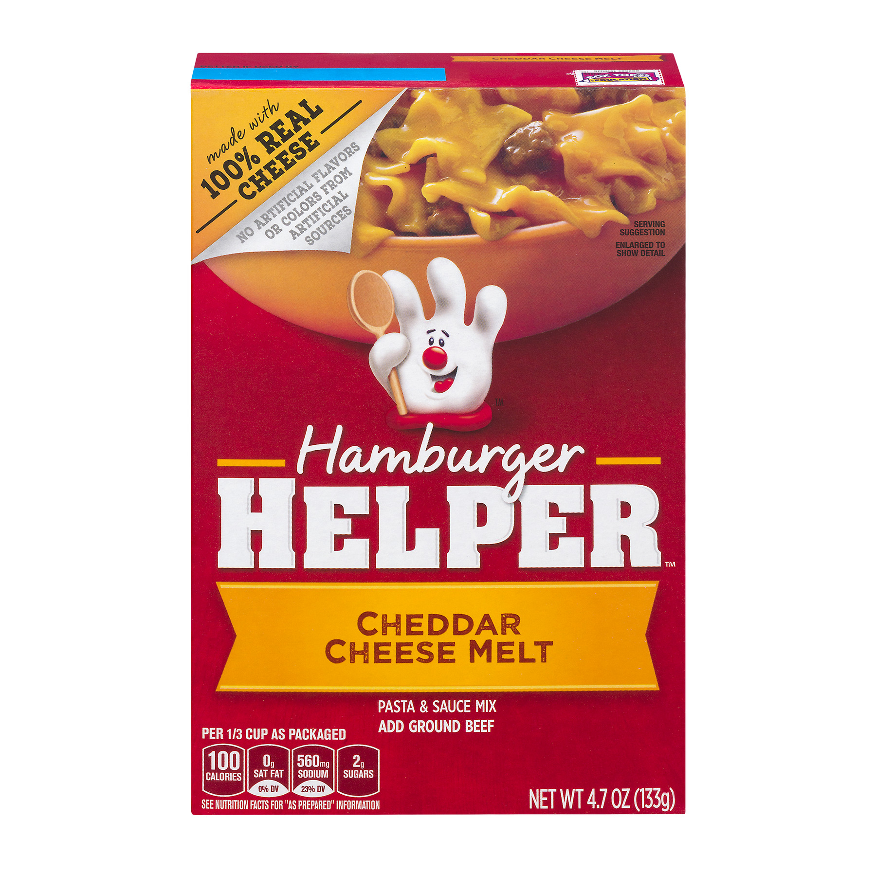 Betty Crocker Hamburger Helper Cheddar Cheese Melt 4.7 oz Box