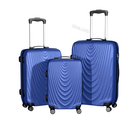 BIGLAND 3 Pieces Hardside Spinner Luggage Sets Travel Rolling Suitcase 20