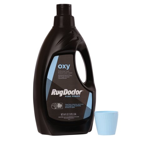 Rug Doctor Pure Power with Oxy Carpet Cleaner, 64 oz.; Eco-Friendly, Powerful, Biobased Cleaning Solution for Carpets and Soft Surfaces Fighting Tough, Deep-Down, Set-In Stains, Spots, Soils or