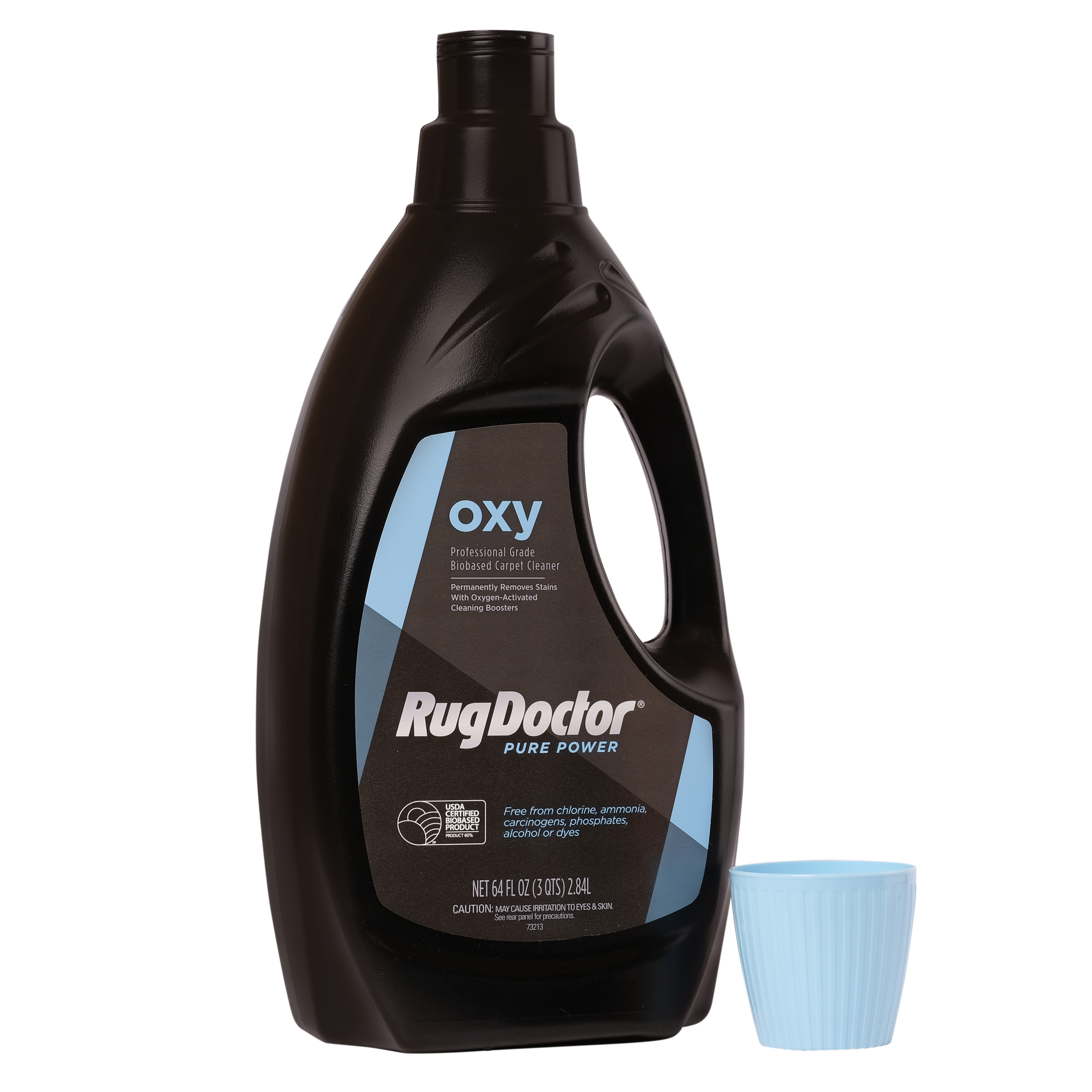 Rug Doctor Pure Power Carpet and Upholstery Cleaner with Powerful Oxygen-Activated Cleaning Boosters; Eco-Friendly Mindfully Blended Bio-based Formula Targets Tough Stains in Home and Office; 64 oz.