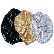 BERET SEQUIN BLACK