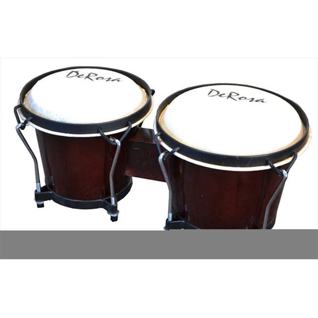 Click here to buy De Rosa BOG78-DB 7 in. and 8 in. Bongo Drum in Dark Brown by De Rosa.