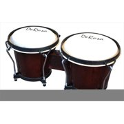 De Rosa BOG78-DB 7 in. and 8 in. Bongo Drum in Dark Brown