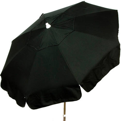 DestinationGear Italian 6' Umbrella Acrylic Solid Black Beach Pole