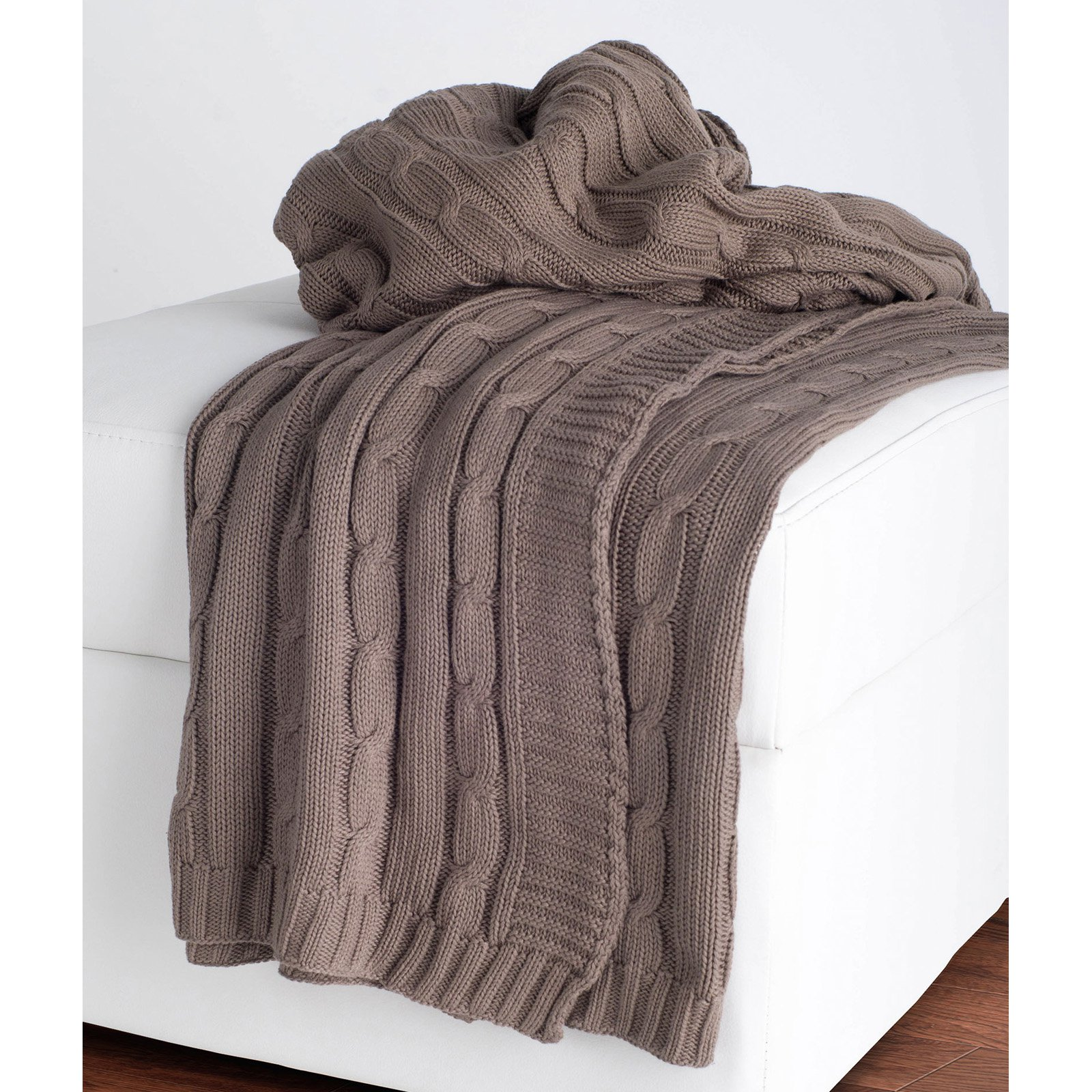 rizzy home cable knit cotton luxury sweater throw blanket walmartcom - Cable Knit Throw