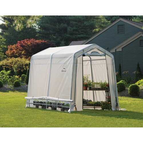 ShelterLogic 6'x8'x6' Growit Easy Flow Greenhouse Peak Style in White