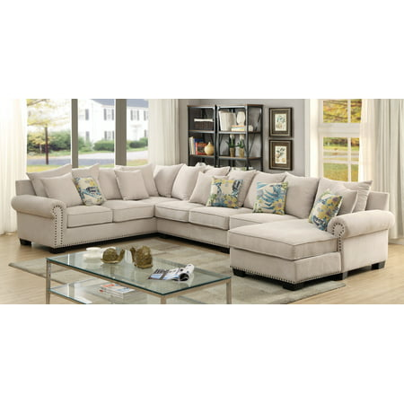 Furniture Of America Amahri Sectional Chair Gray
