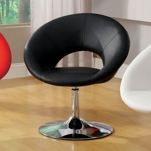 Furniture of America Grandale Padded Leatherette Swivel Chair