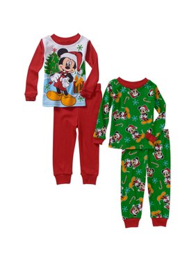 Baby Toddler Boy Christmas Character Cotton Pajamas, 2 -Sets