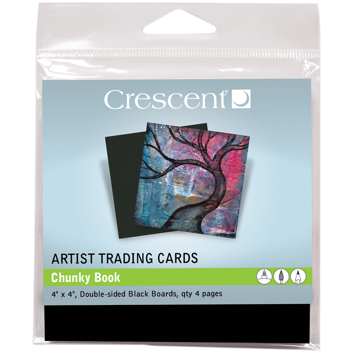 Crescent Artist Trading Cards 4 Inch X 4 Inch 4/Pkg-Chunky Book -