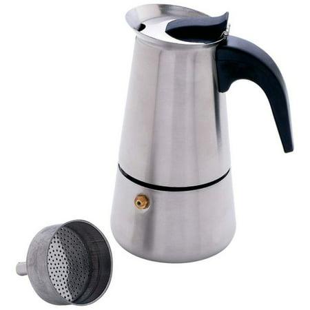 Heavy-Gauge Stainless Steel 4-Cup Espresso Maker