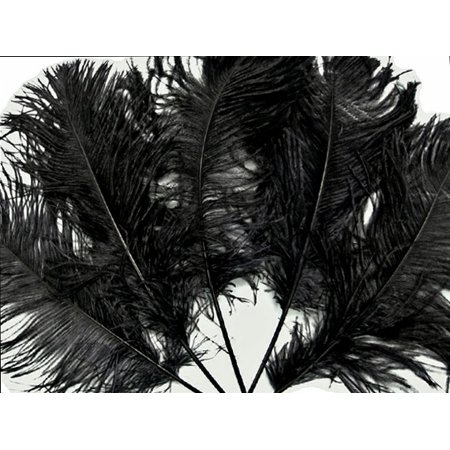 1/2 Lb - Black Ostrich Tail Feathers Wholesale - Bulk Feathers