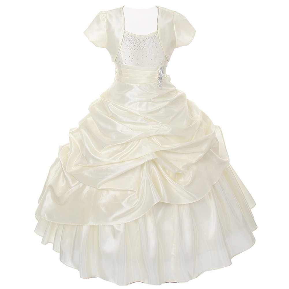 Chic Baby Ivory Layered Bolero Pageant Dress Set Girl 4-16