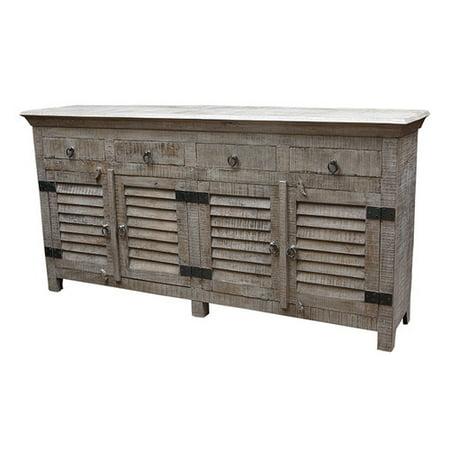 MOTI Furniture 4 Drawer Buffet