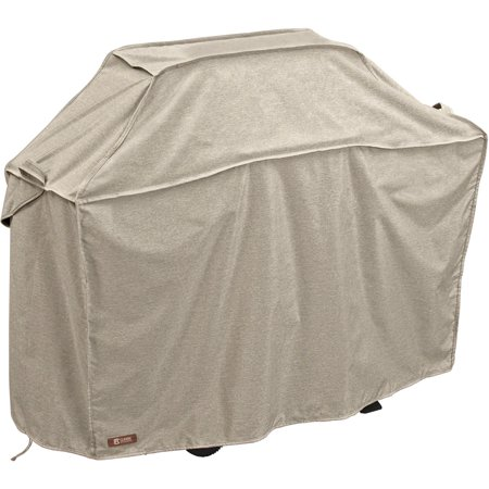 Classic Accessories Montlake™ FadeSafe® Grill Cover - Heavy-Duty BBQ Cover with Solution-Dyed Reinforced Fade-Resistant Fabric, Medium, 58-Inch L, Heather Grey