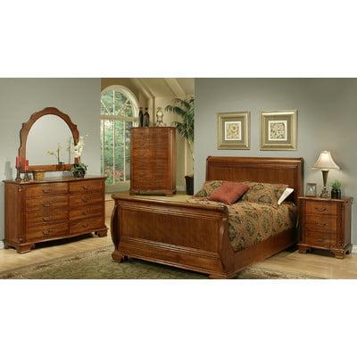 Ayca Furniture American Heritage Sleigh Customizable Bedroom Set