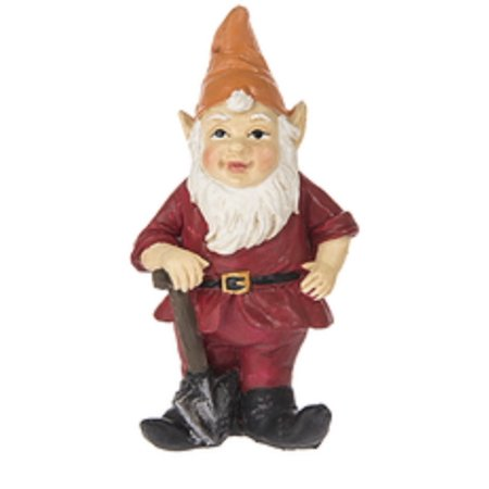 Fairy Garden Gnome Figure: Red Coat and Orange Hat - By - Garden Gnome Hat