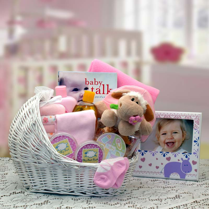 Gift Basket 89062-P Welcome Baby Baby Bassinet - Pink, medium