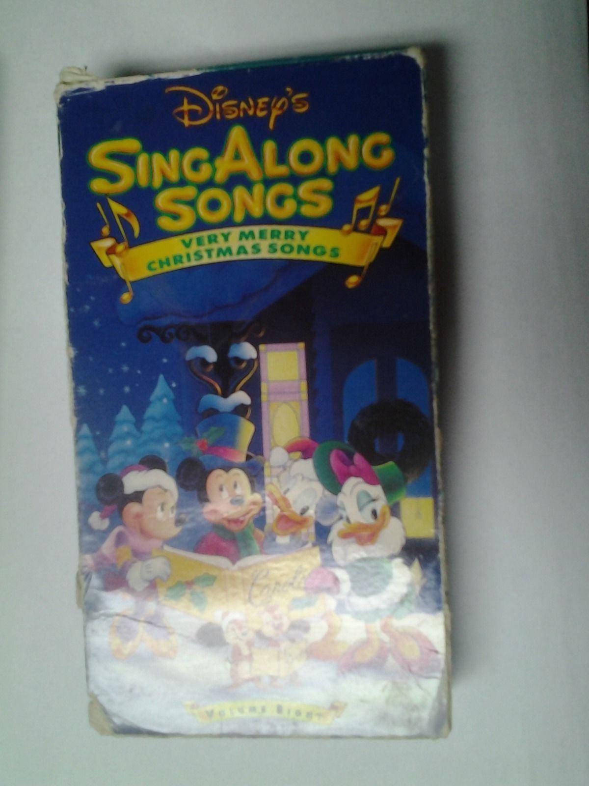 Disney Very Merry Christmas Sing Along Songs.Disney S Sing Along Songs Very Merry Christmas Songs Vhs