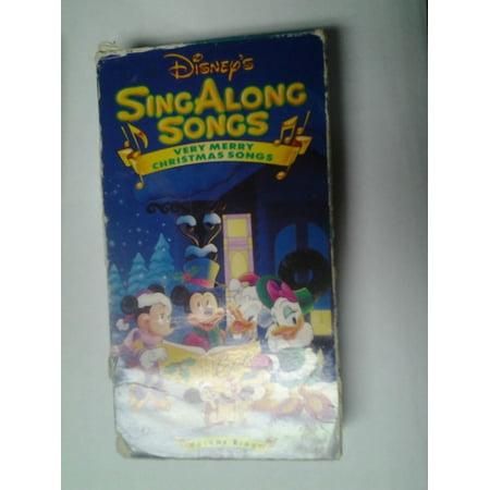 Disney Sing Along Songs Christmas Vhs.Disney S Sing Along Songs Very Merry Christmas Songs Vhs
