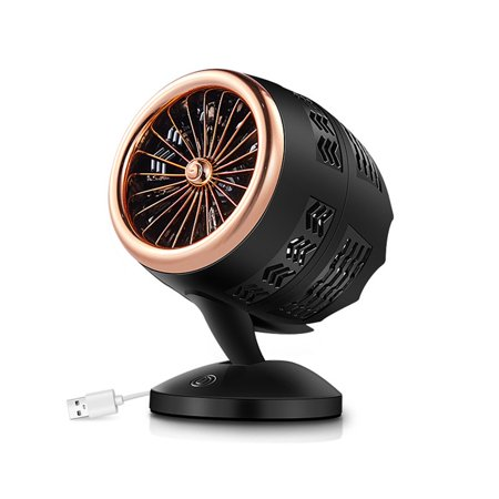 Mute Convection Air Circulation Desktop Mini Fan Portable Small Fan Double Leaf Turbo Fan Portable Durable - image 4 of 5