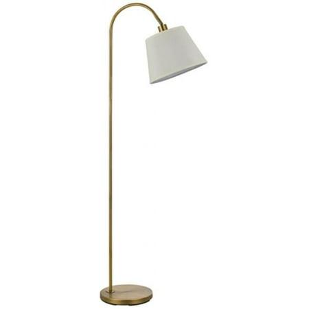 Cal Lighting BO-2573FL-AB 60 Watts Covington Metal Floor Lamp, Antique Brass - image 1 de 1