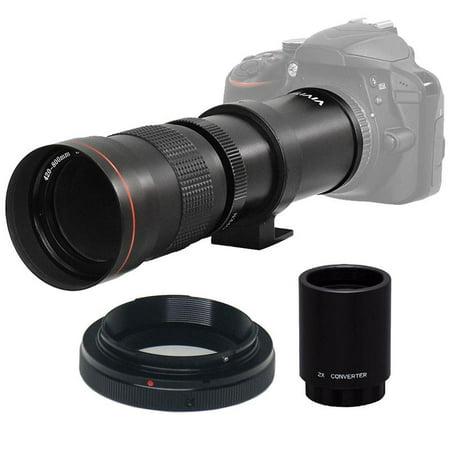 Vivitar 420-800mm f/8 3 Telephoto Zoom Lens for Nikon D750, D850, D3500 &  D5600