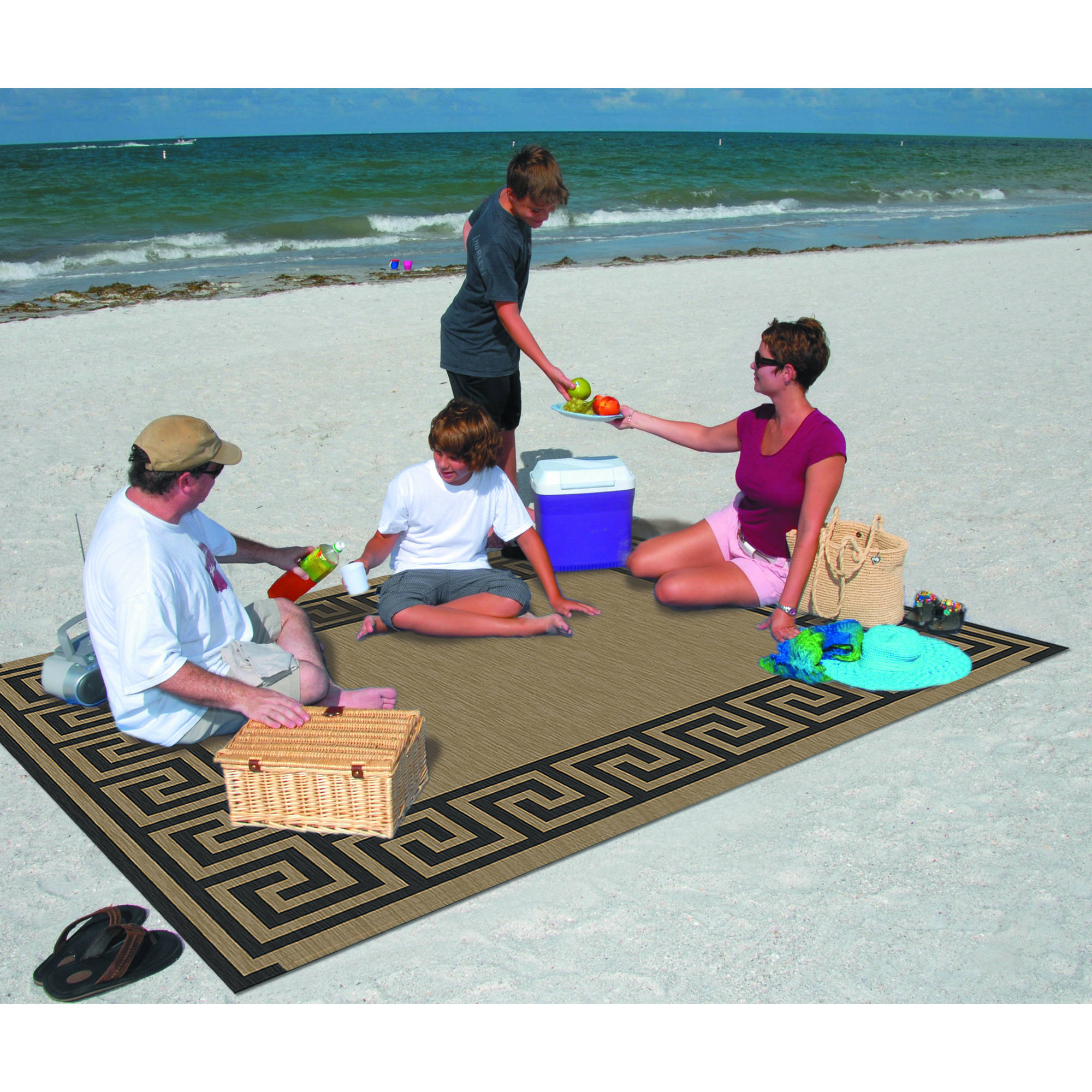 Patio Mats 9 x 12 Reversible Patio Mat Walmart