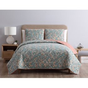 Mhf Home Isabella Floral And Plaid Patchwork 3 Piece Quilt Set Walmart Com Walmart Com