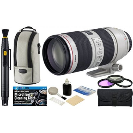 Canon Ef 70 200Mm F 2 8L Is Ii Usm Zoom Telephoto Lens With Usa Warranty   Filter Kit   Accessory Bundle